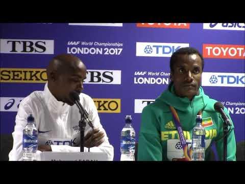 Men's 5000m Full Press Conference: Mo Farah, Muktar Edris, Paul Chelimo