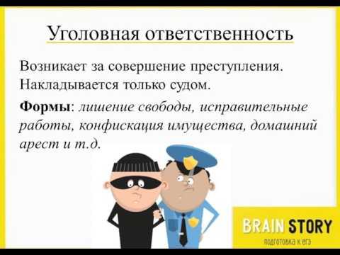 7.4.5  Виды правонарушений и виды юридической ответственности  Уголовные