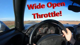 C5 Z06 Corvette Project Build - First Test Drive At Wide Open Throttle (WOT)