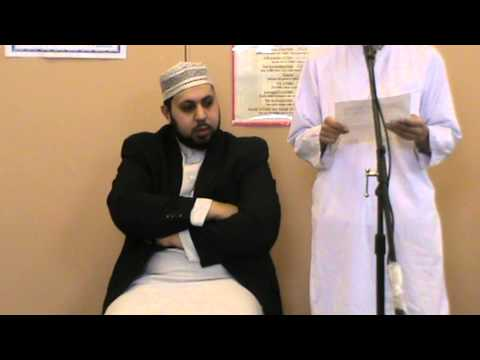 Speech about Adam (a) by Nahidur at DHLNW Jummah Assembly on 8th March 2013