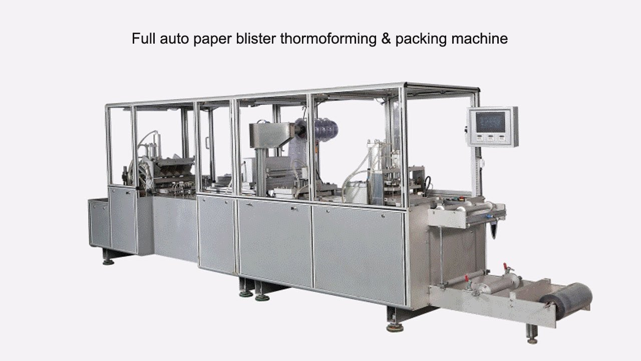 full automatic paper card blister thermoformingpacking