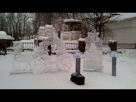 Фестиваль снежных и ледяных скульптур в Череповце