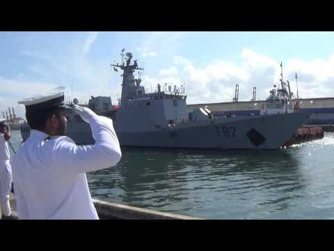 "Nigerian Naval Ship ""Unity"" arrives at the Port of Colombo"