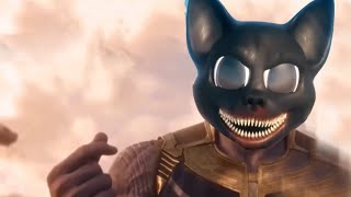 Cartoon Cat Astronaut in the Ocean (Trevor Henderson Scary Horror Masked Wolf Parody)