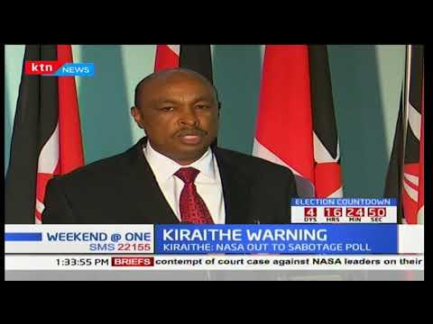 Government spokesman Eric Kiraithe links IEBC commissioners' resignation to NASA