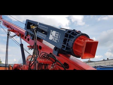 Свайный гидромолот РОПАТ МГ3к на базе экскаватора Doosan 420LC