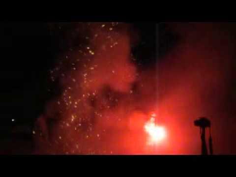 Fireworks at Ridgefield High School 2013 (ground view)