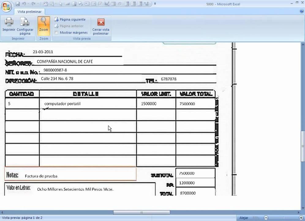 sistema para imprimir facturas preimpresas autollenar formatos - YouTube