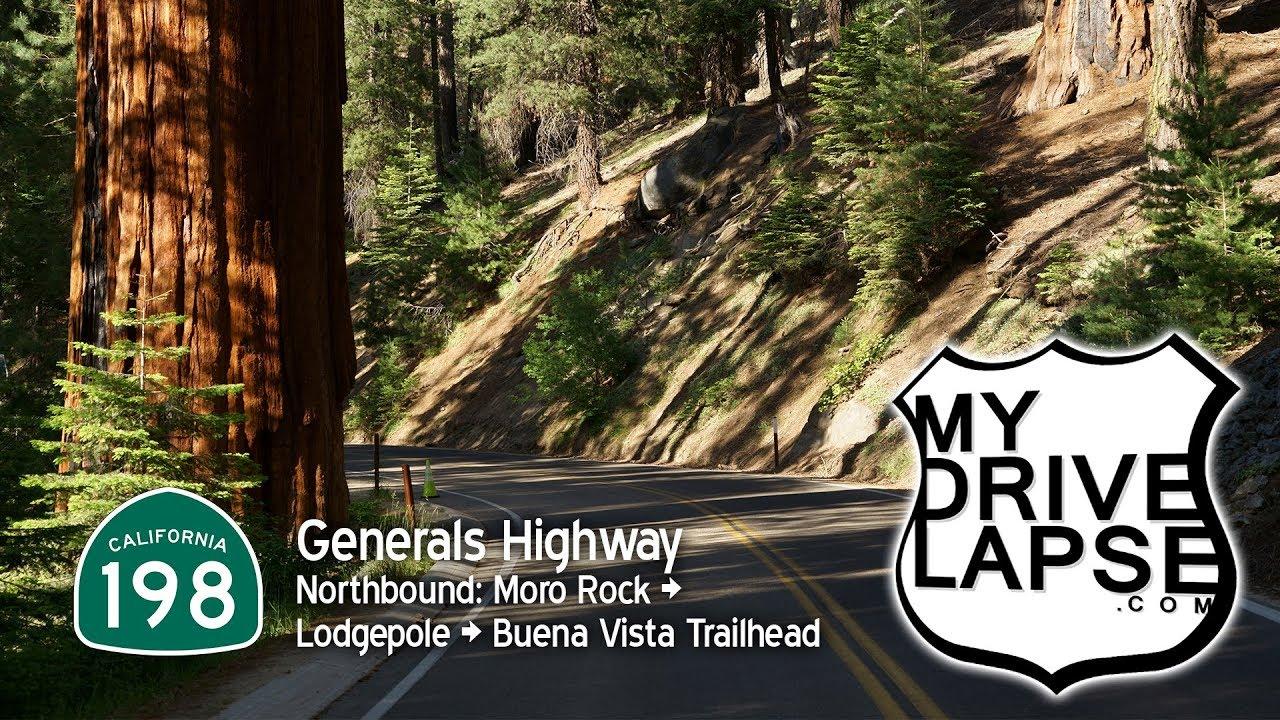 Generals Highway through Sequoia National Park: Northbound