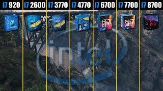 intel Core i7 920 vs 2600 vs 3770 vs 4770 vs 6700 vs 7700 vs 8700