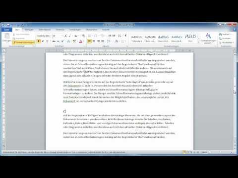 Word 2010 - Inhaltverzeichnis erstellen und einfügen