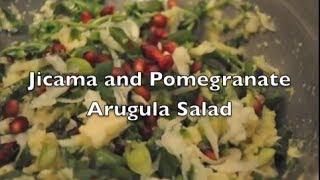 Jicama And Pomegranate Arugula Salad | Low-fat Raw Vegan 80-10-10