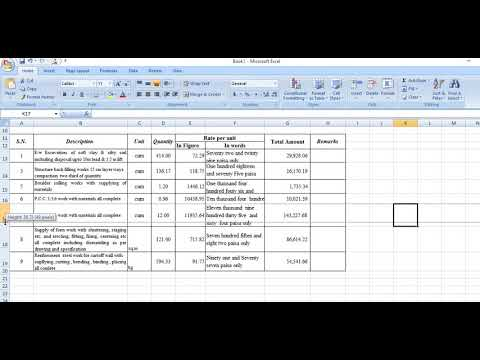 How to prepare BILL OF QUANTITY (BOQ) of any construction work