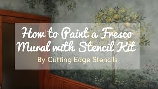 How to Paint a Fresco Mural with Stencil Kit by Cutting Edge Stencils. DIY decor ideas.