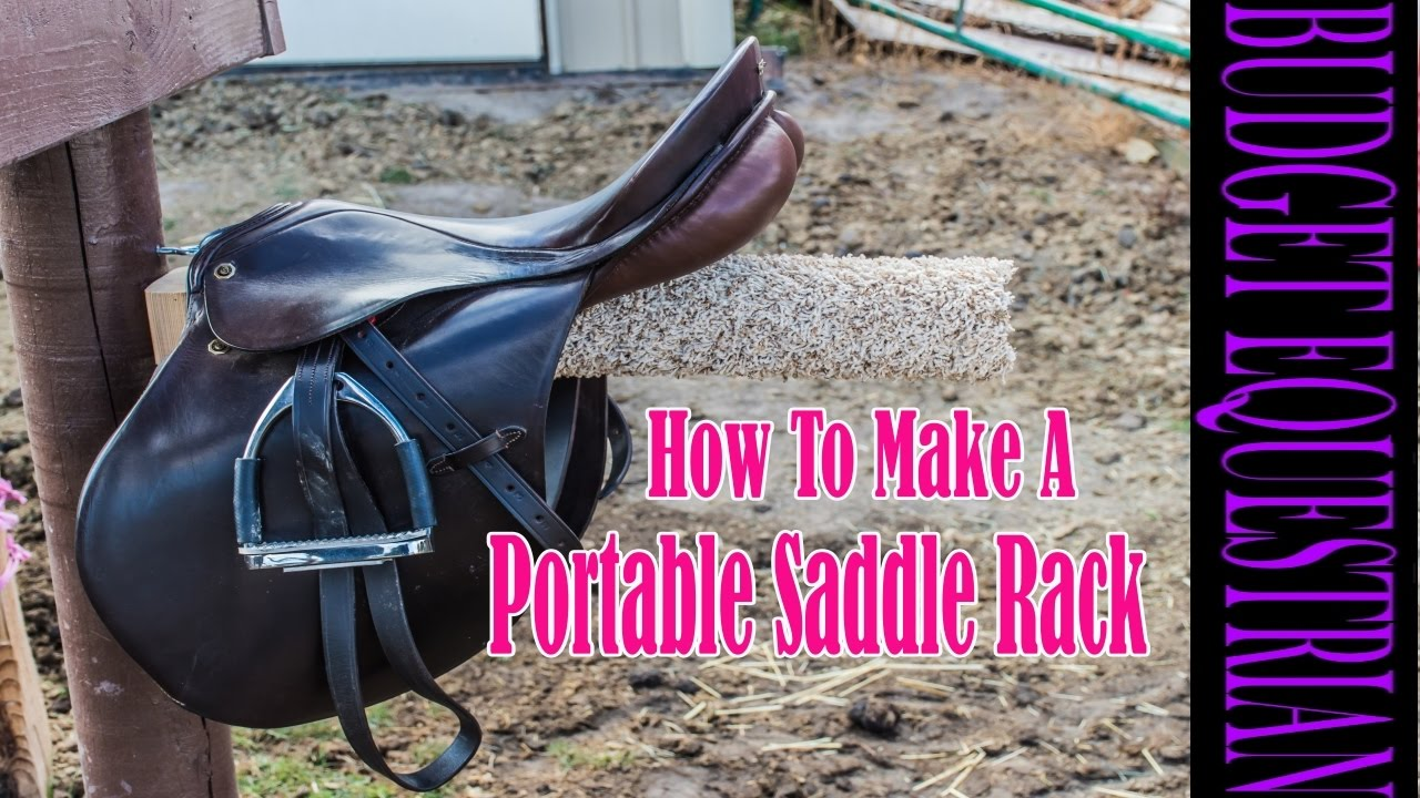 How To Build A Portable Saddle Rack Youtube