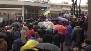 Odesa Protests Against Russia Invasion: Activists demand Russian Consular Office be closed