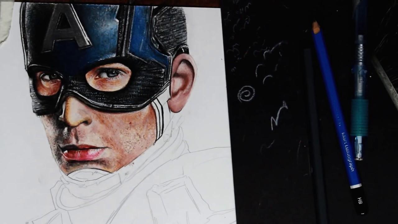Desenho Do Capitão América / Os Vingadores