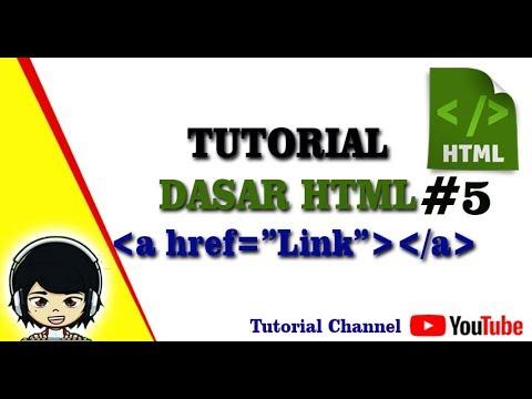 Tutorial Dasar Html #5 - Penggunaan Link Pada HTML