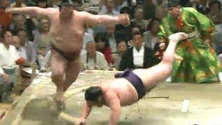 平成25年秋場所9日目 千代大龍、2場所続けて稀勢の里を撃破 sumo 大...