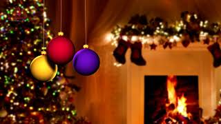 Christmas Themed Relaxation Music with Fireplace - Merry Christmas! -