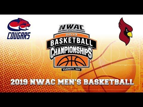 2019 NWAC Men's Basketball Game 2 - Clackamas vs North Idaho