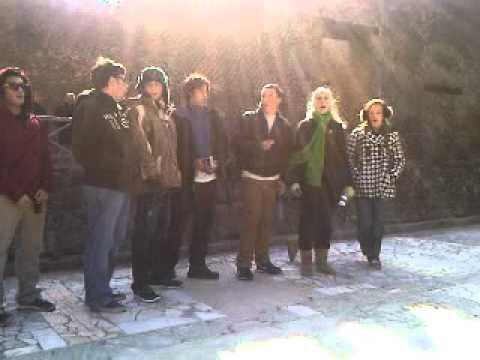WA Latin Students in Greek Theater in Pompeii