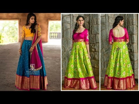 Traditional Fashionable Lehenga And Gown Designs 2019