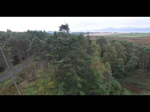 4K flight over the Bute Estate waterworks DJI phantom 3 DJI3 Pro