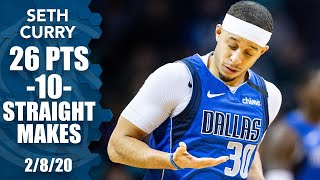 Seth Curry CATCHES FIRE, starts 10-for-10 with his dad on the Hornets' call | 2019-20 NBA Highlights
