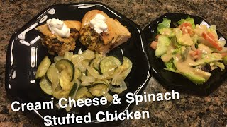 Cream Cheese and Chicken Stuffed Spinach