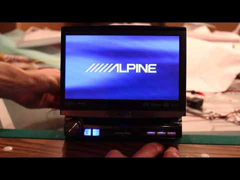 Alpine IVA-D106 Head Unit Overview Single Din Flip Up
