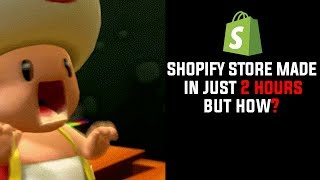 Making a Store Shopify Store In Just 2 HOURS! Step By Step!