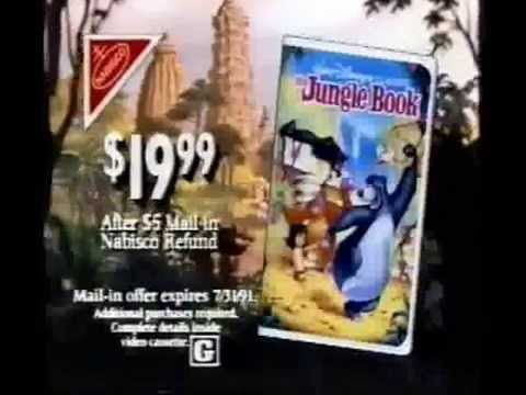 """A TV Spot For """"The Jungle Book"""" On VHS"""