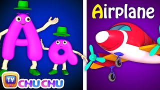 Phonics Song 2 with TWO Words in 3D - A For Airplane - ABC Alphabet Songs with Sounds for Children