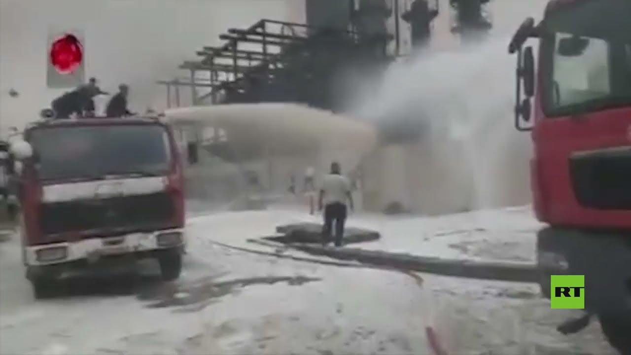 حريق في مصفاة حمص وسط سوريا - نقلا عن الإخبارية السورية  - نشر قبل 3 ساعة
