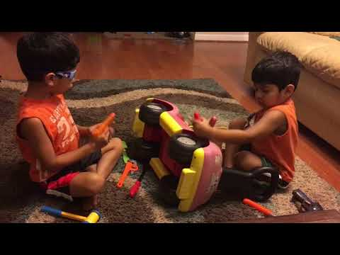 Shah Abbas and Hussain playing Fixing Car 06-2016