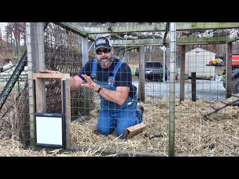 Upgrading The Chicken Coop With Worlds First Automatic Locking Door!