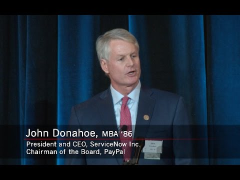 John Donahoe, MBA '86, Accepts 2017 Ernest C. Arbuckle Award