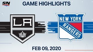 NHL Highlights | Kings vs Rangers - Feb. 09, 2020