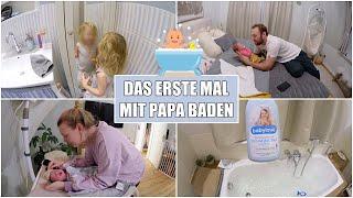 Moritz erstes Bad 👶🏼 1. Lebenswoche & Nabelschnur ab | Isabeau