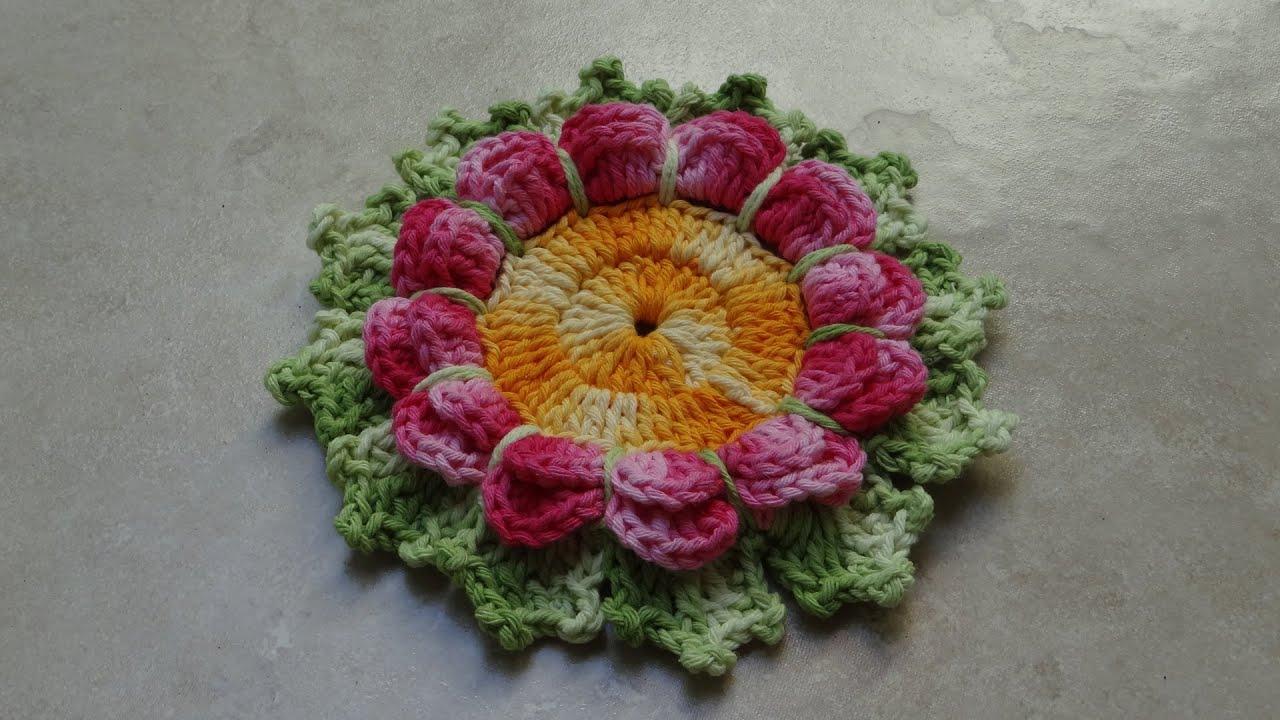 Flor com Folhas de Era em Croch? - YouTube