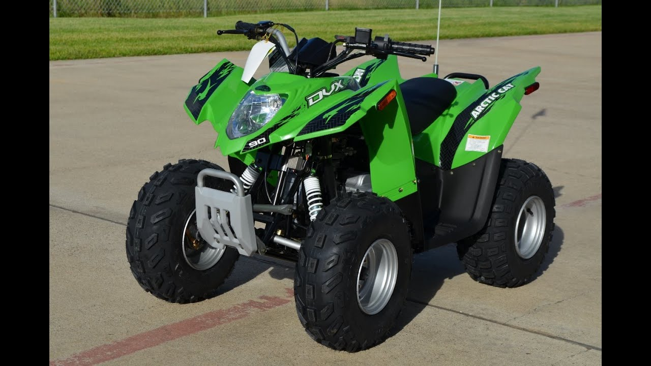 $2,799: 2015 Arctic Cat DVX 90 Youth ATV in Lime Green  YouTube