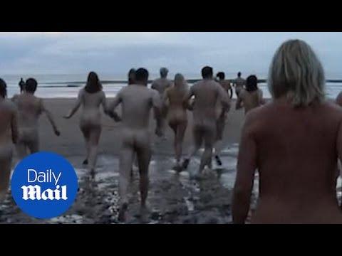 Hundreds in Northumberland skinny dip to mark autumn equinox