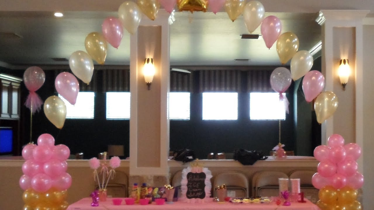 Pink And Gold Birthday Decorations Youtube