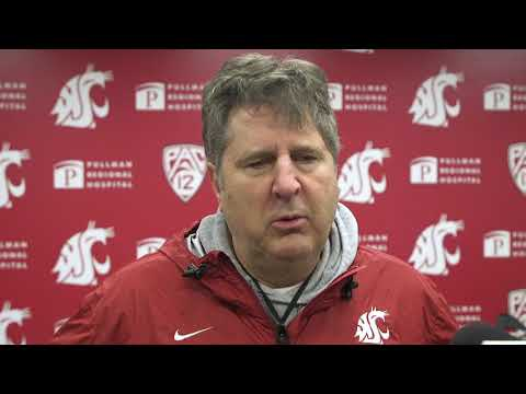 WSU Football: Mike Leach After Practice 12/19/19
