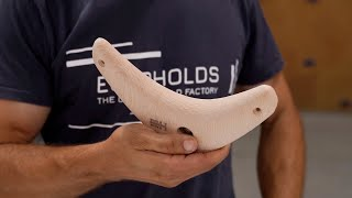 Video: WOODEN BOOMERS 3 - A pair of completely symmetrical holds, medium size crimps.