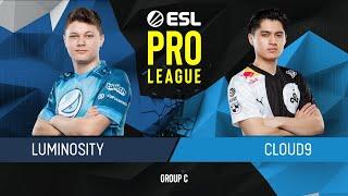 CS:GO - Luminosity vs. Cloud9 [Dust2] Map 1 - Group C - ESL Pro League Season 9 Americas