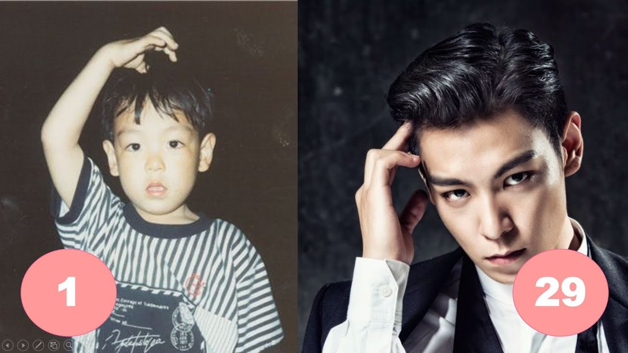 T O P Bigbang Childhood From 1 To 29 Years Old Youtube