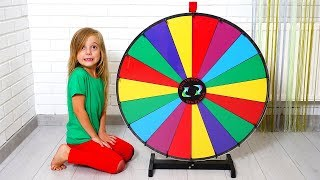 Funny kids play with Magic wheel