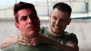 KRAV MAGA TRAINING • How to escape a strong choke from behind Krav ...